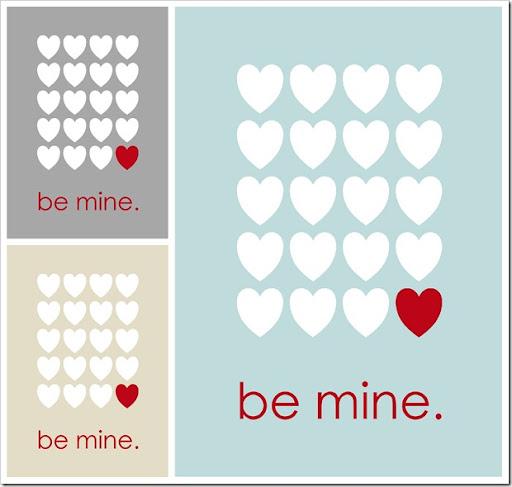 be mine printable